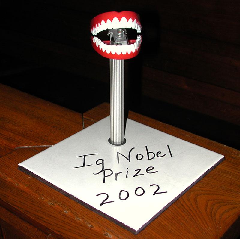 2002 Ig Nobel Prize in Chemistry