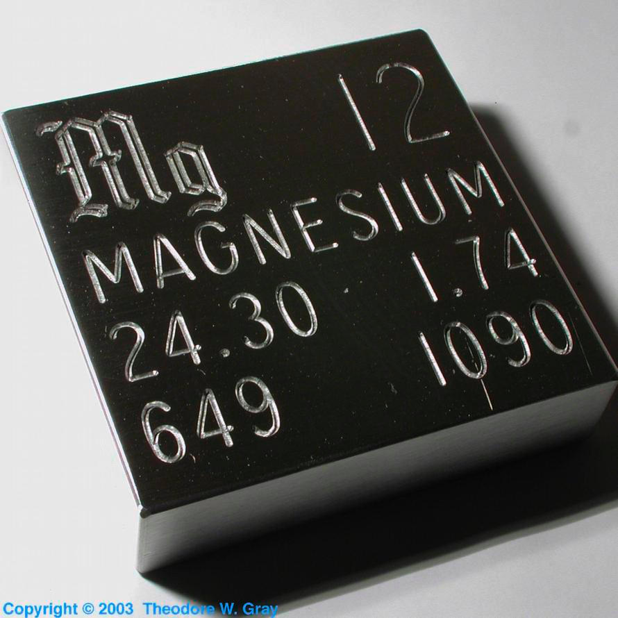 Technical Data For The Element Magnesium In The Periodic Table