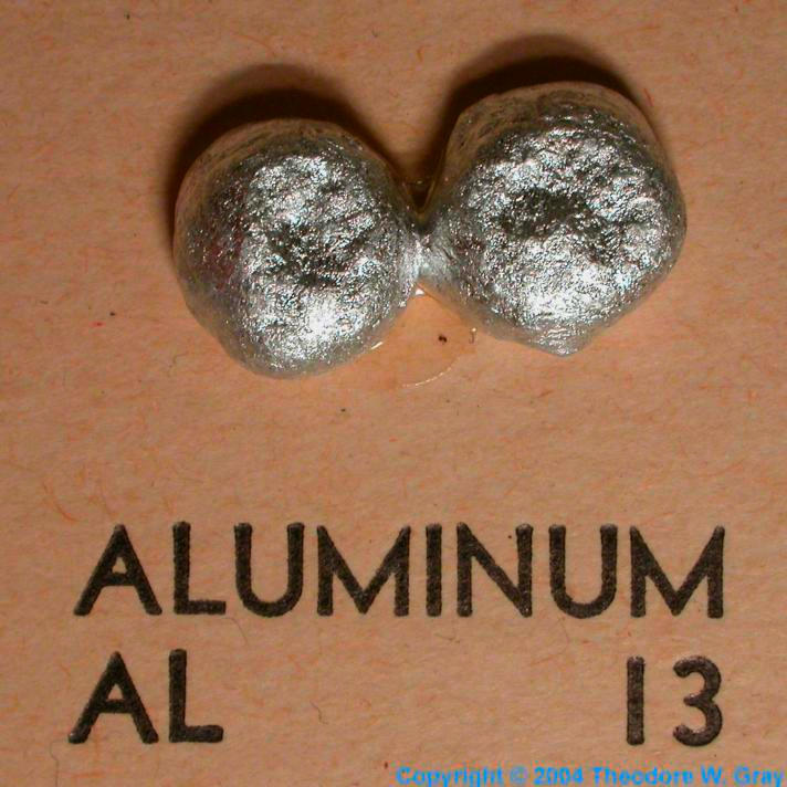 Sample of the element aluminum in the periodic table aluminum mini element collection urtaz Gallery