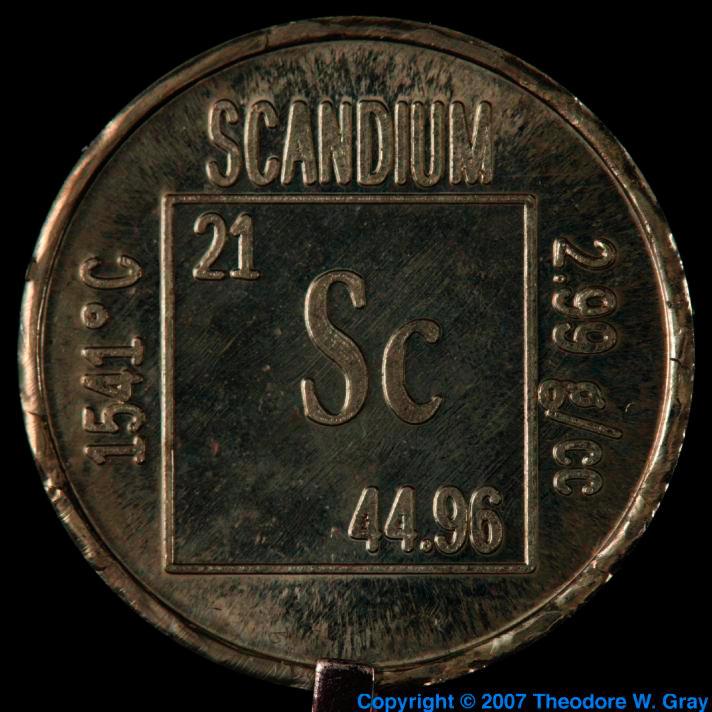 Scandium: isotope data