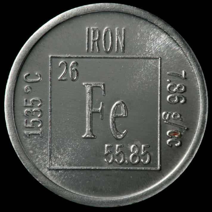 Who discovered the element iron