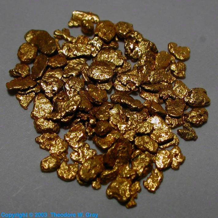 Sample Of The Element Gold In The Periodic Table