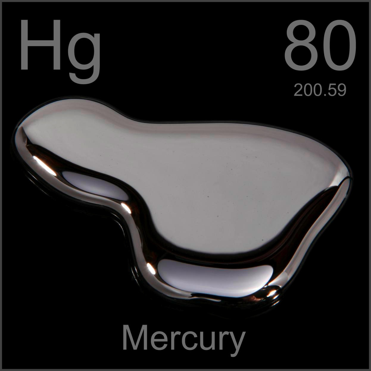 a description of mercury as a silvery liquid metal at room temperature The description of the element in its natural form a liquid, silvery metal elemental mercury, a liquid at room temperature.