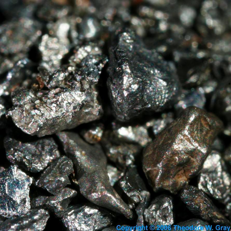 Iridium element rock