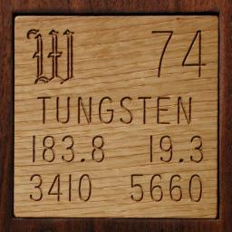 Sample of the element tungsten in the periodic table - Tungsten symbol periodic table ...