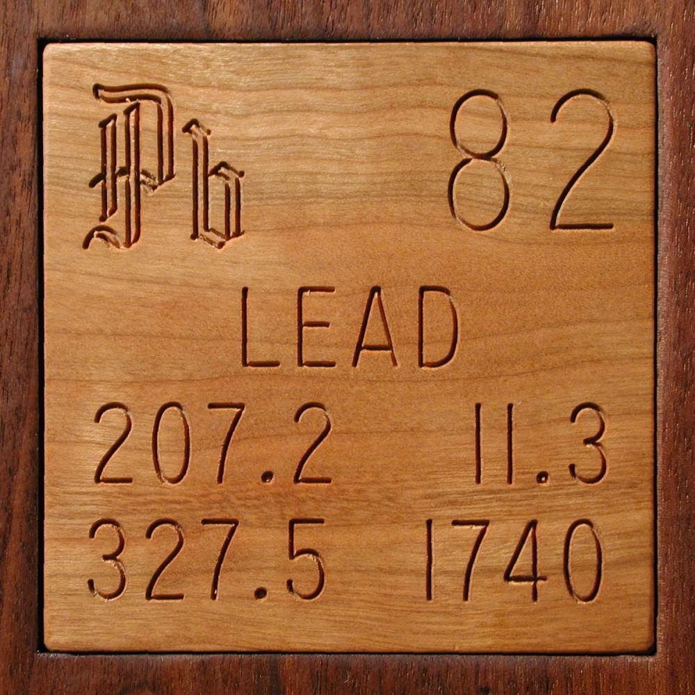 Periodic Table Lead Tile Coaster by Science_Lady |Lead Element Periodic Table