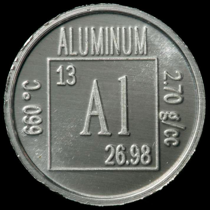 Sample of the element aluminum in the periodic table aluminum element coin urtaz Choice Image