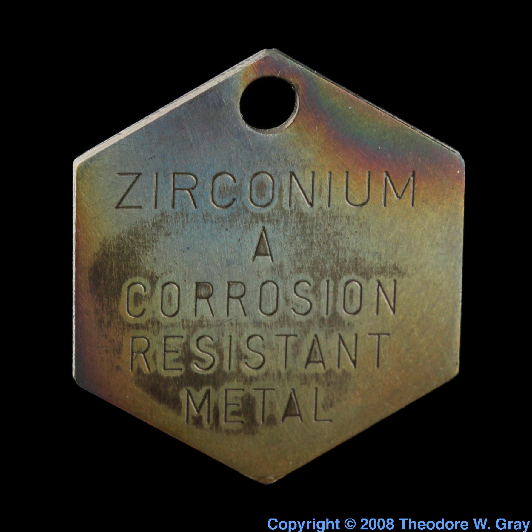 Sample of the element zirconium in the periodic table urtaz Image collections