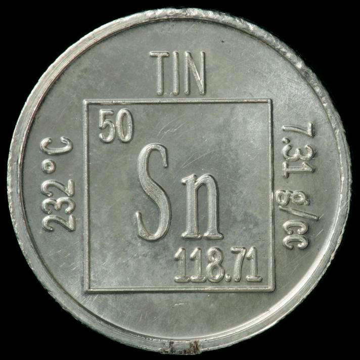 Sample of the element tin in the periodic table tin element coin urtaz Gallery