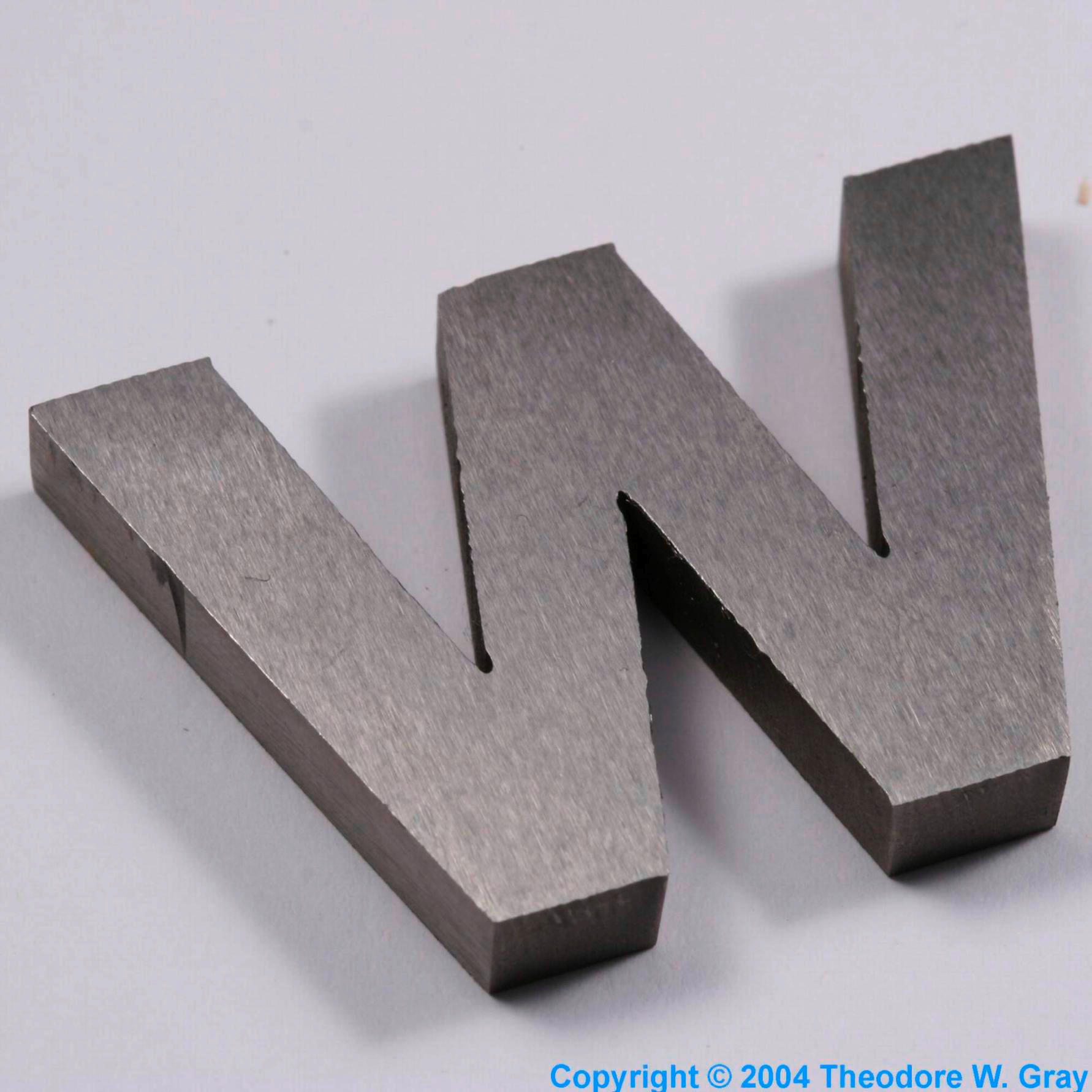 Sample of the element tungsten in the periodic table my periodic table poster is now available urtaz Image collections
