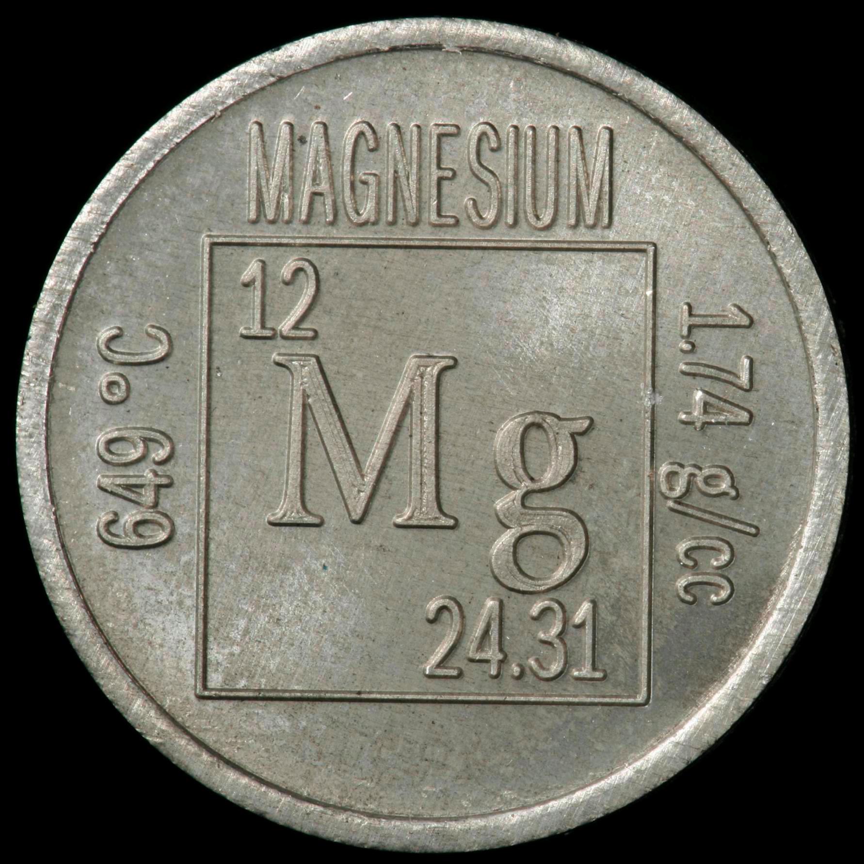 Sample of the element magnesium in the periodic table magnesium element coin urtaz Images