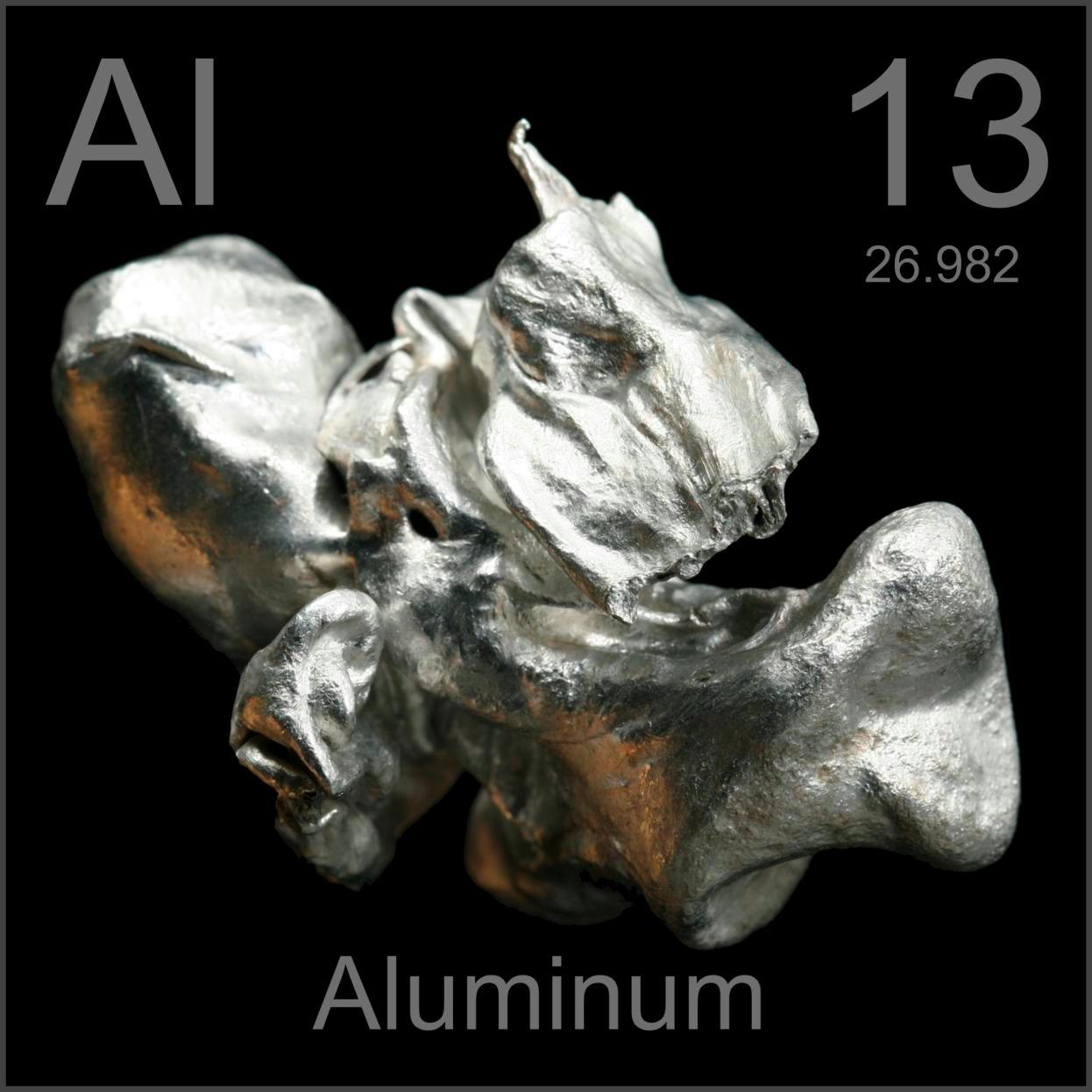 Sample of the element aluminum in the periodic table aluminum museum grade sample gamestrikefo Images