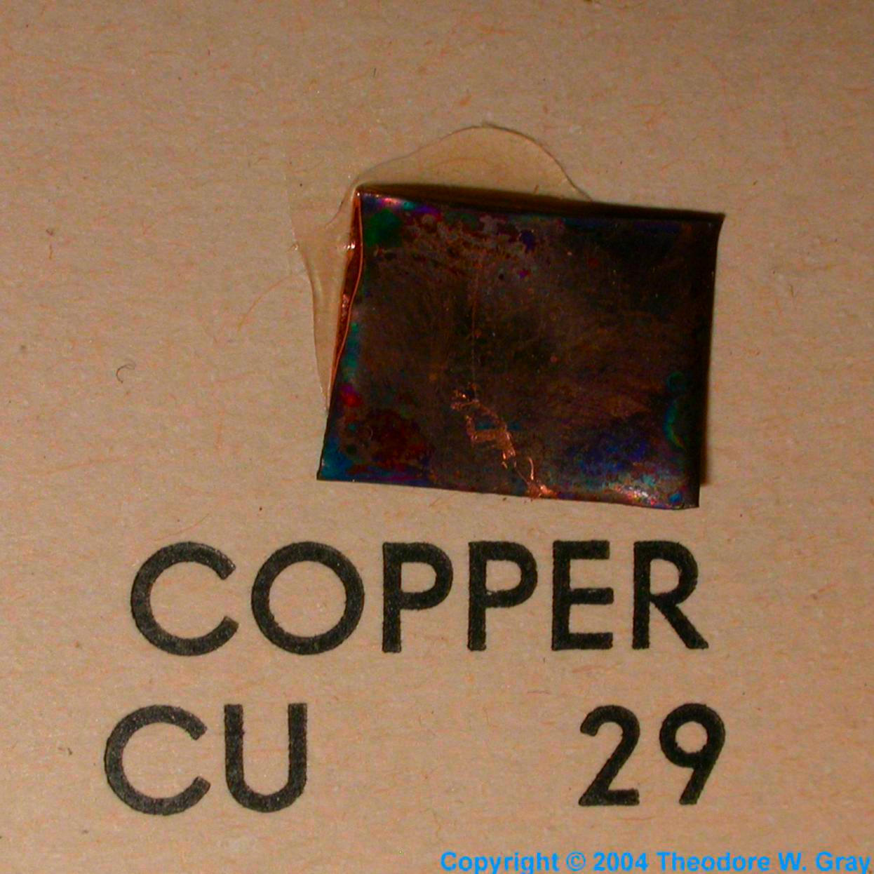 Sample Of The Element Copper In The Periodic Table