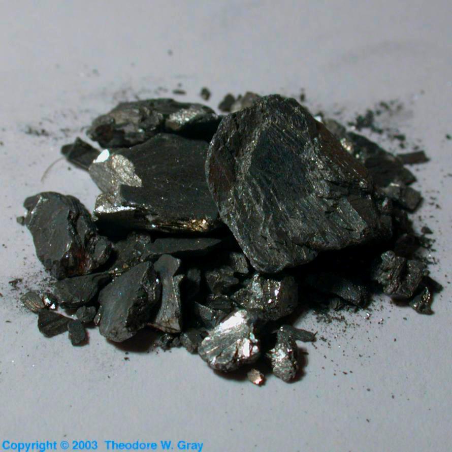 antimony crystals