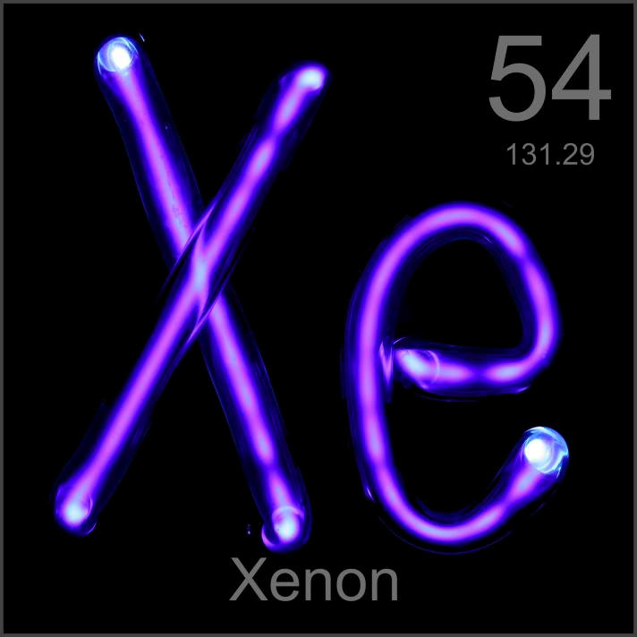 Sample Of The Element Xenon In The Periodic Table
