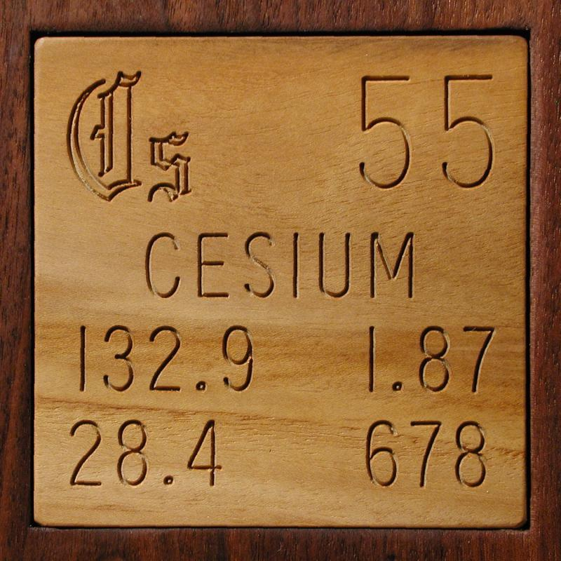 Technical Data For The Element Cesium In The Periodic Table