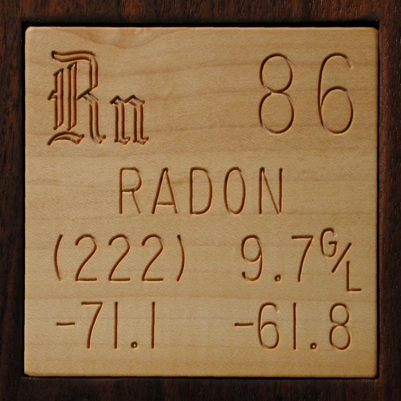 Technical Data For The Element Radon In The Periodic Table