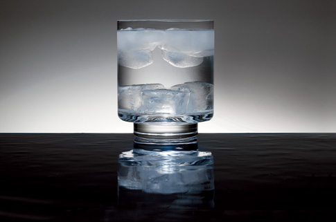 Heavy ice cubes sink to the Ice Cubes Floating In Water