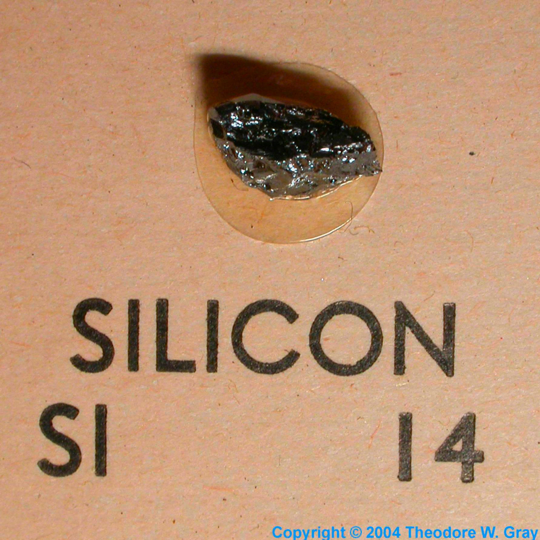 Sample of the element silicon in the periodic table silicon mini element collection gamestrikefo Image collections
