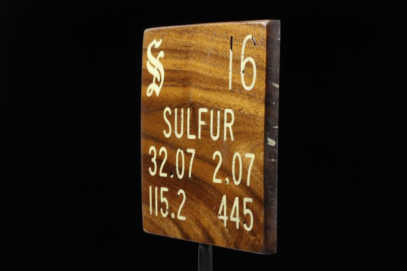 My periodic table poster is now available Element Sulfur Periodic Table