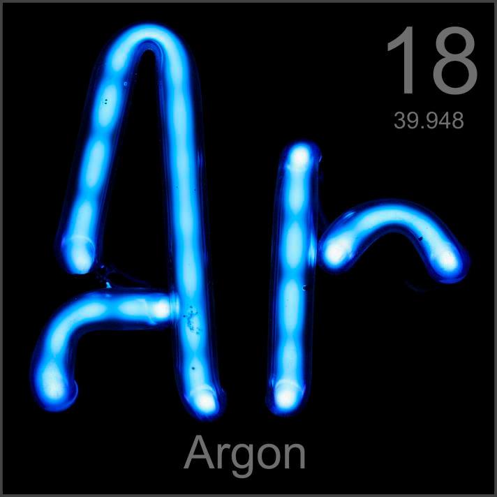 Argon 18 Ar Argon Argon Ice Argos Atomic Number Chemical