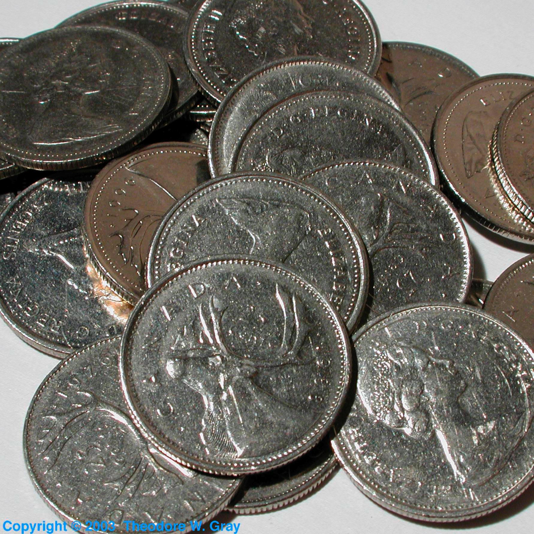 Facts pictures stories about the element nickel in the periodic nickel canadian quarters gamestrikefo Image collections