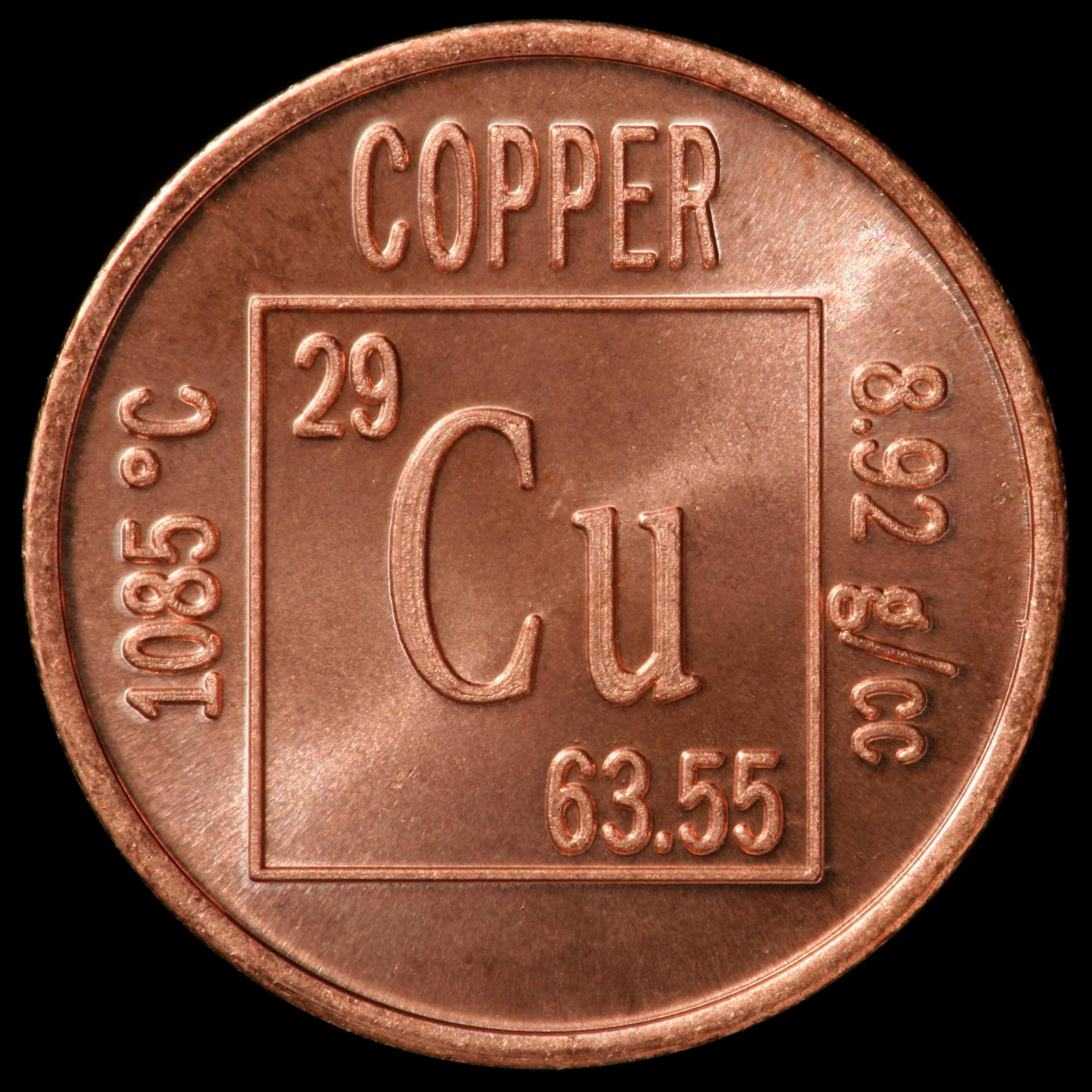Sample of the element copper in the periodic table copper element coin gamestrikefo Images