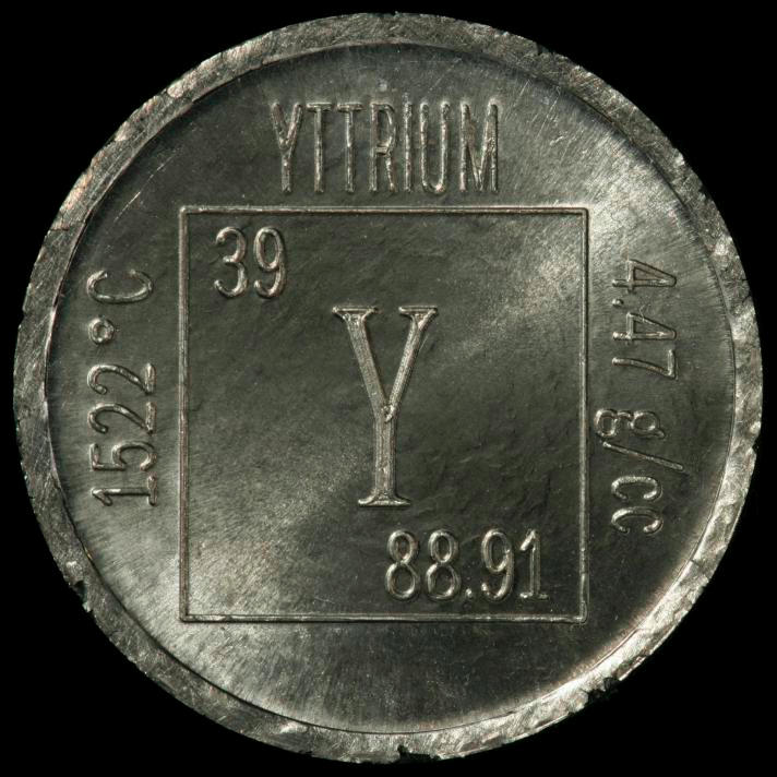 Yttrium Element coin