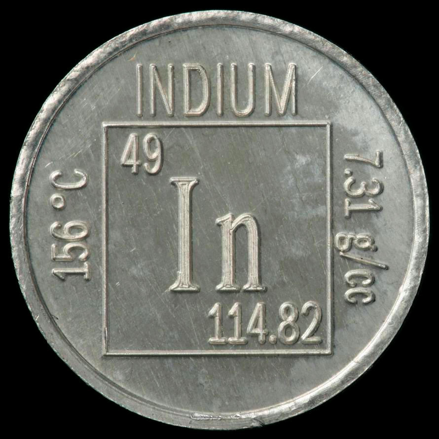 Facts pictures stories about the element indium in the periodic indium element coin gamestrikefo Gallery