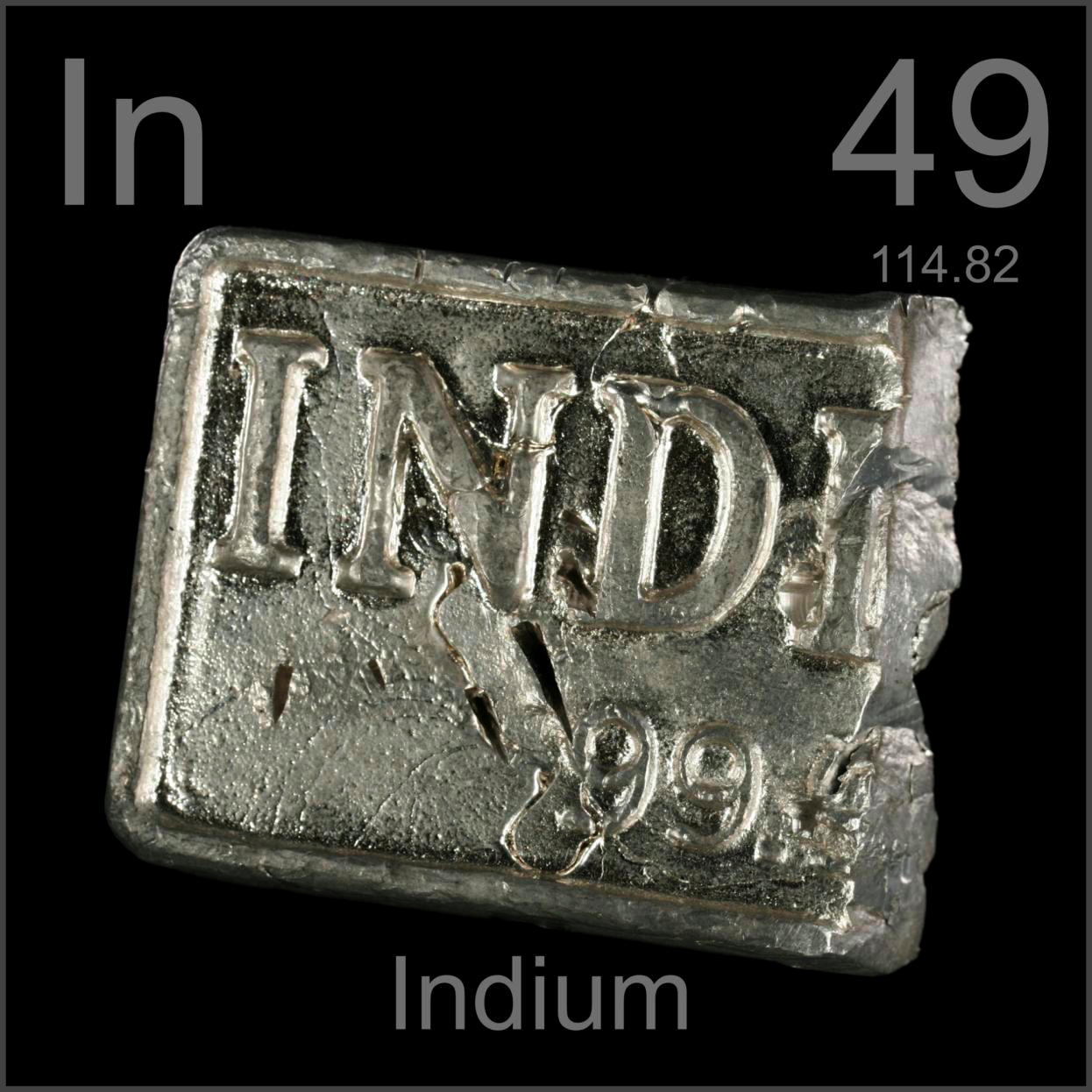 Facts pictures stories about the element indium in the periodic indium cut ingot gamestrikefo Gallery