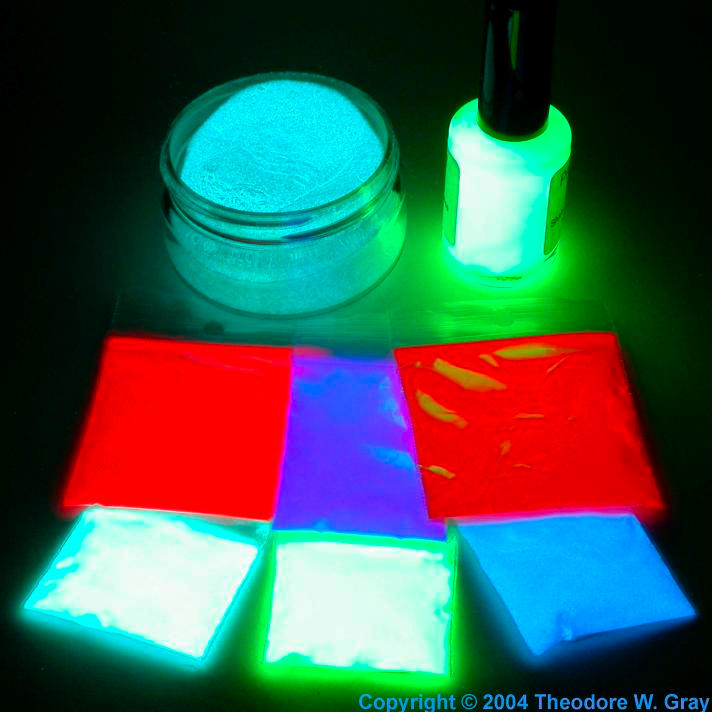 Facts pictures stories about the element europium in the - Glow in the dark paint colors ...