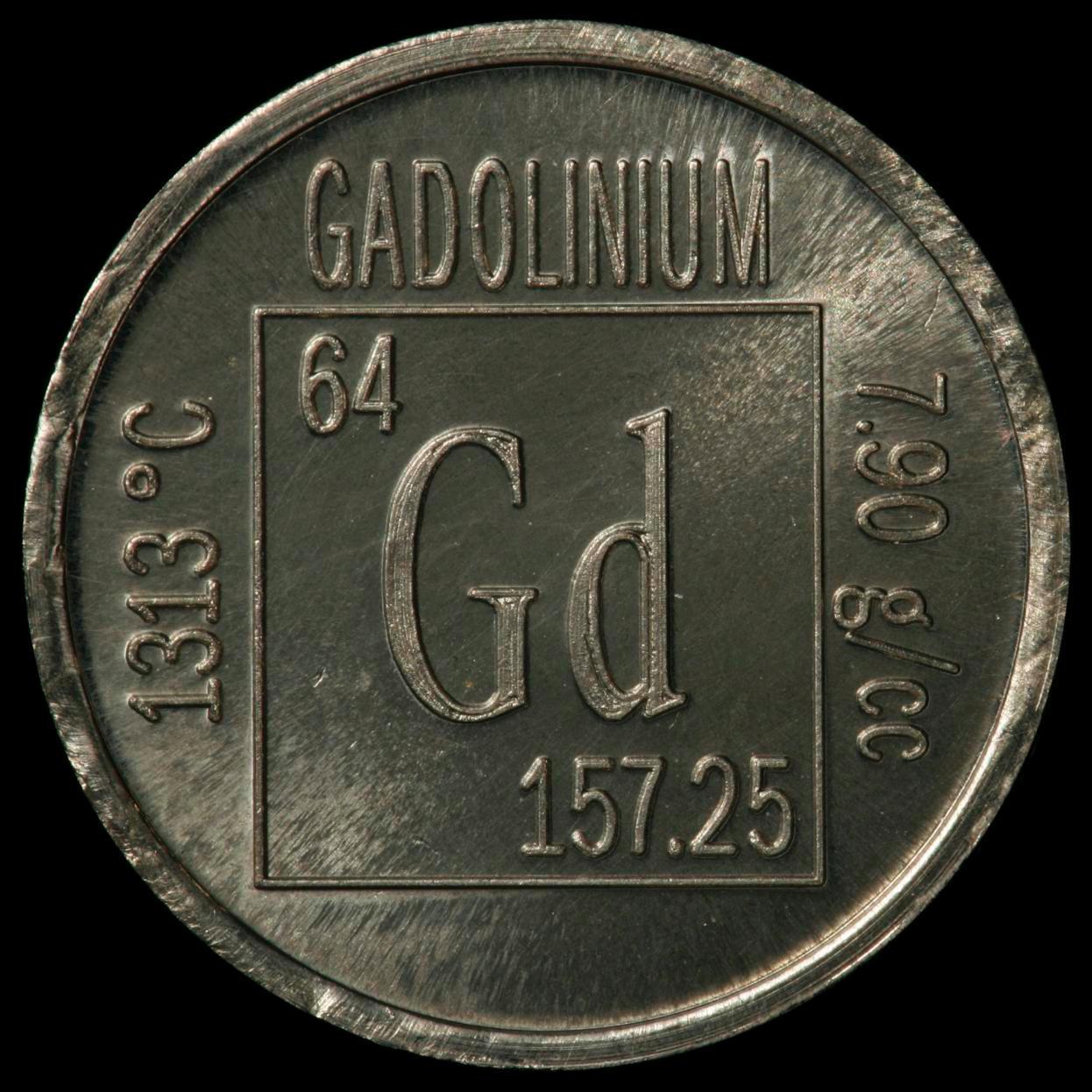 Gadolinium Element coin  Iridium Coin