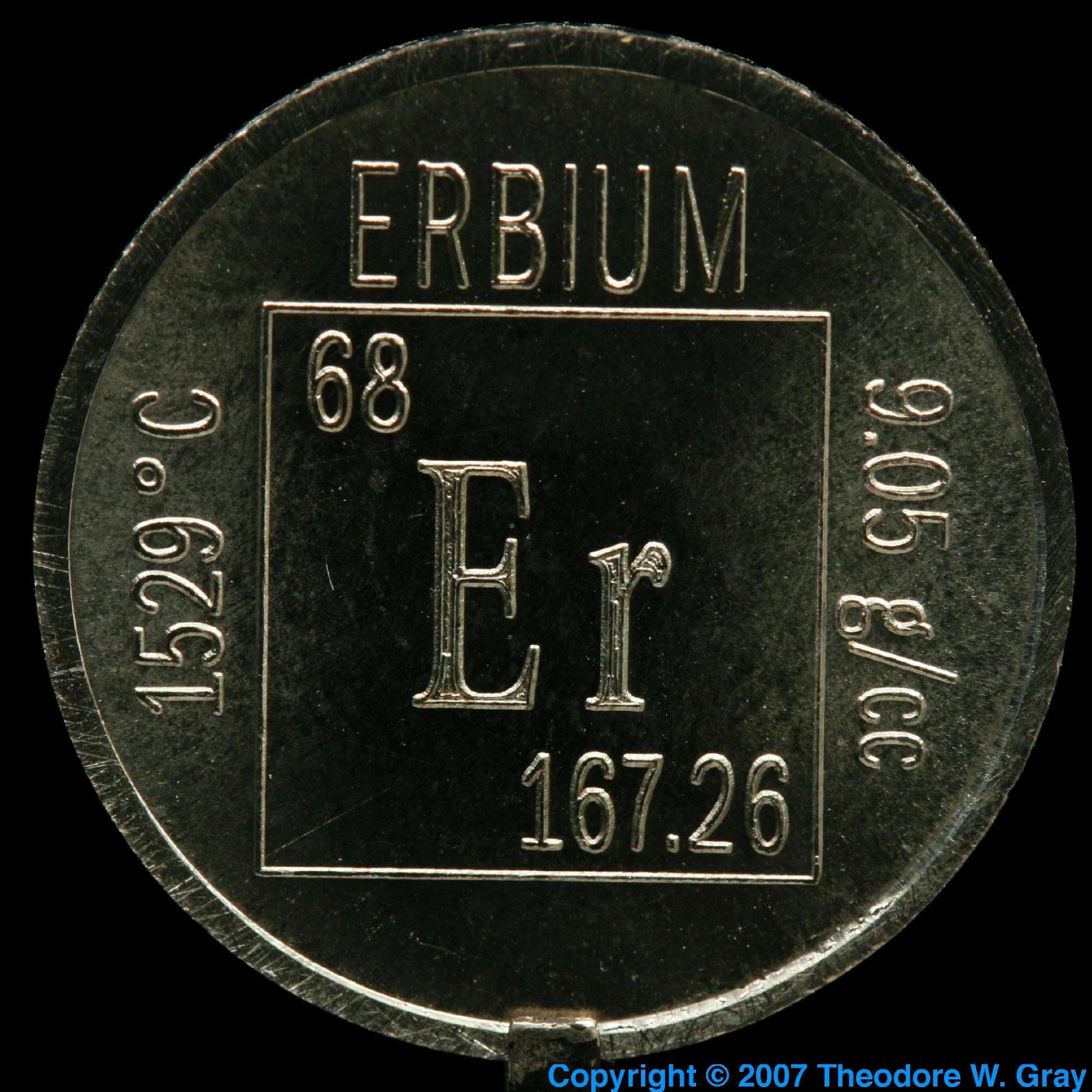 Erbium Element coin  Iridium Coin
