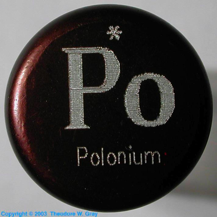 Sample Of The Element Polonium In The Periodic Table