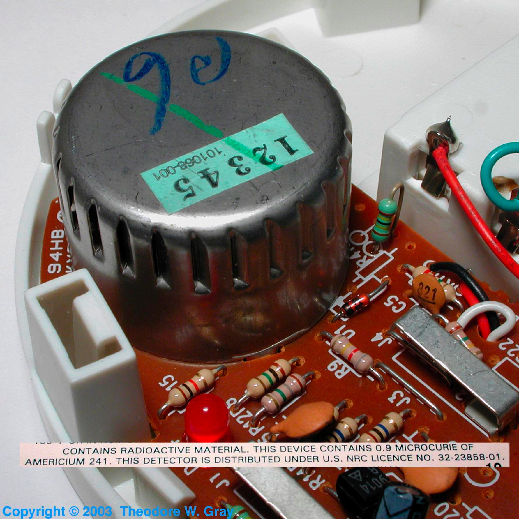 Facts Pictures Stories About The Element Americium In Periodic Smoke Alarm Circuit Intact Detector