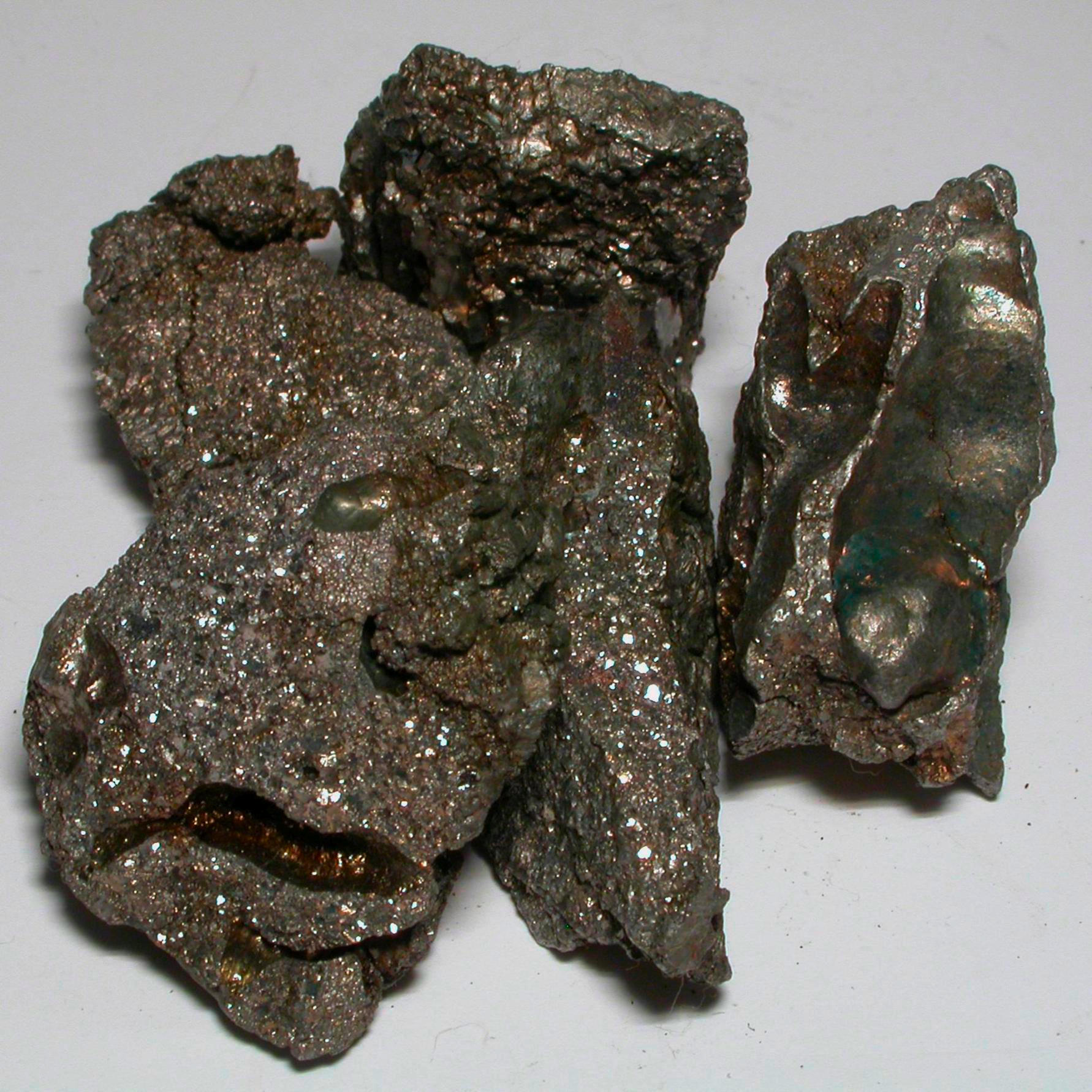 Slag Metal Scraps : Sample of the element iron in periodic table
