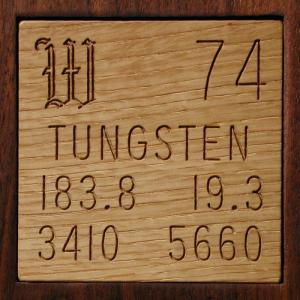 Sample of the element Tungsten in the Periodic Table