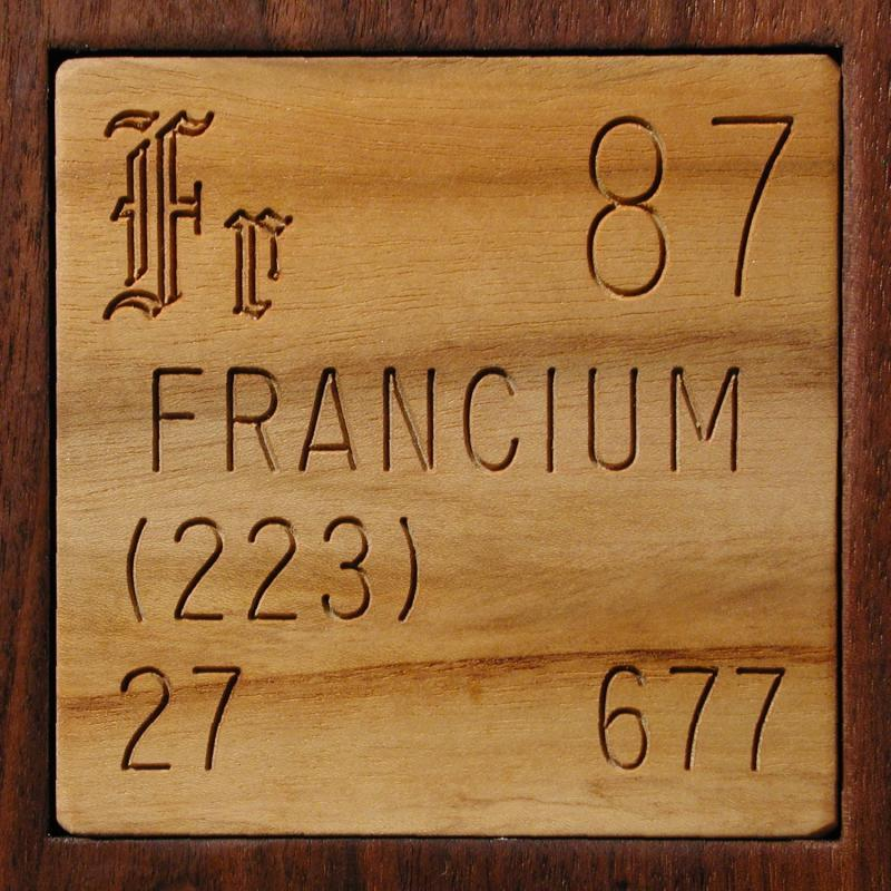 Periodic Table what is the definition of the periodic table of elements : Facts, pictures, stories about the element Francium in the ...