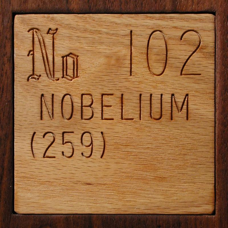 Technical data for the element nobelium in the periodic table for 102 periodic table