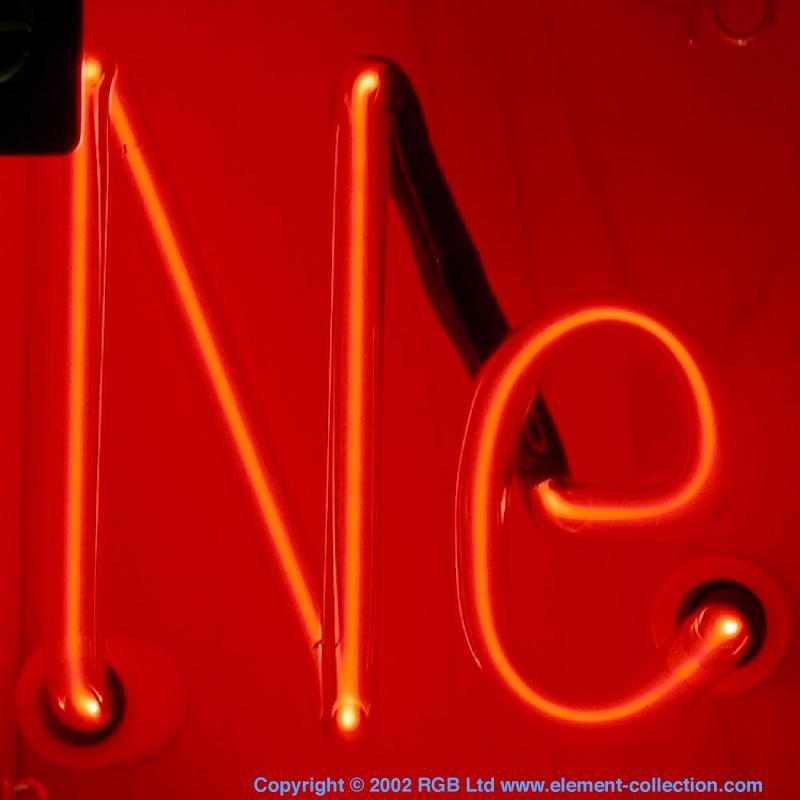 Discharge tube Neon Element Symbol